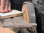 "Plywood on a Bench Sander using the 5"" DuraDisc Carbide Sanding Disc"