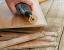 "Cut Laminate Wood Floor using a Carbide Cutting Wheel in a 1/8"" High Speed Rotary Dremel Drill - DuraGRIT SR-CS4"