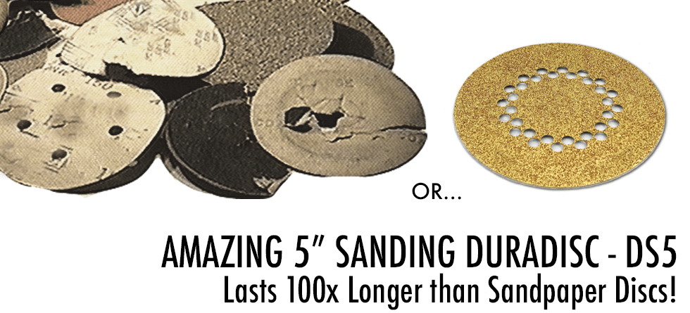 Amazing Carbide 5'' Sanding Disc DuraDisc Lasts 100x Longer than Sandpaper (DB-DS5)