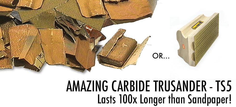 Amazing Carbide TruSander Lasts 100x Longer than Sandpaper (HT-TS5)
