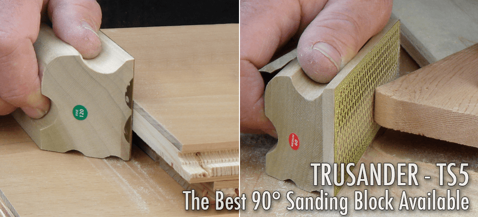 TruSander The Best 90 degree Sanding Block Available (HT-TS5)