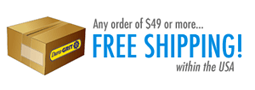 FREE SHIPPING within the USA for orders of $49 or more